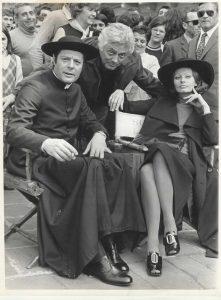 Marcello Mastroianni, Dino Risi y Sophia Loren